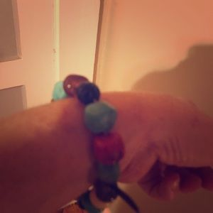 Cute colorful bracelet on stretch band